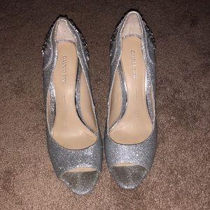 Gianni Bini Silver Heels Size 9